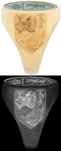 Lion of Scotland Ring shoulder