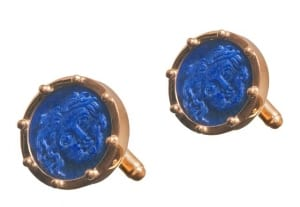 Cufflinks with Bezel and Protective Balls