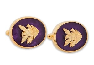 Cufflinks with overtlaid design