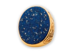 Lapis Lazuli Ring Gold Plated Sterling Silver 925