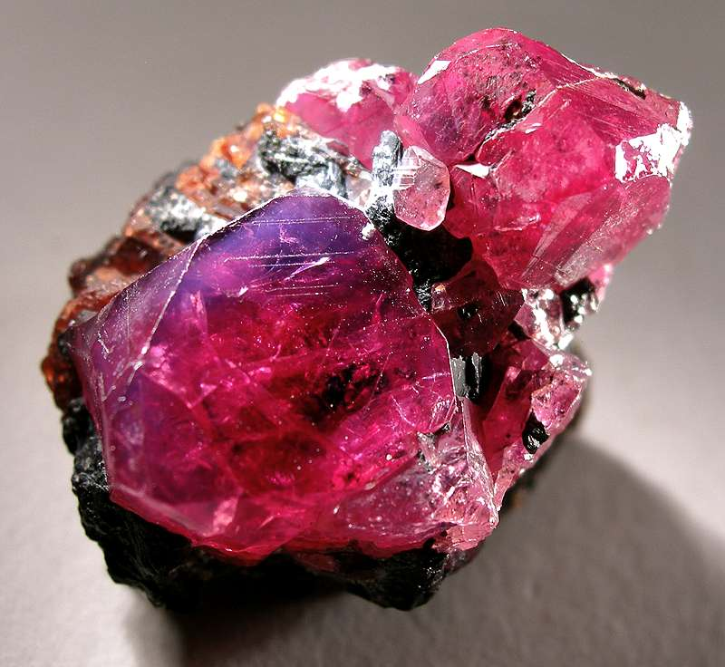 Natural ruby crystals from Winza, Tanzania