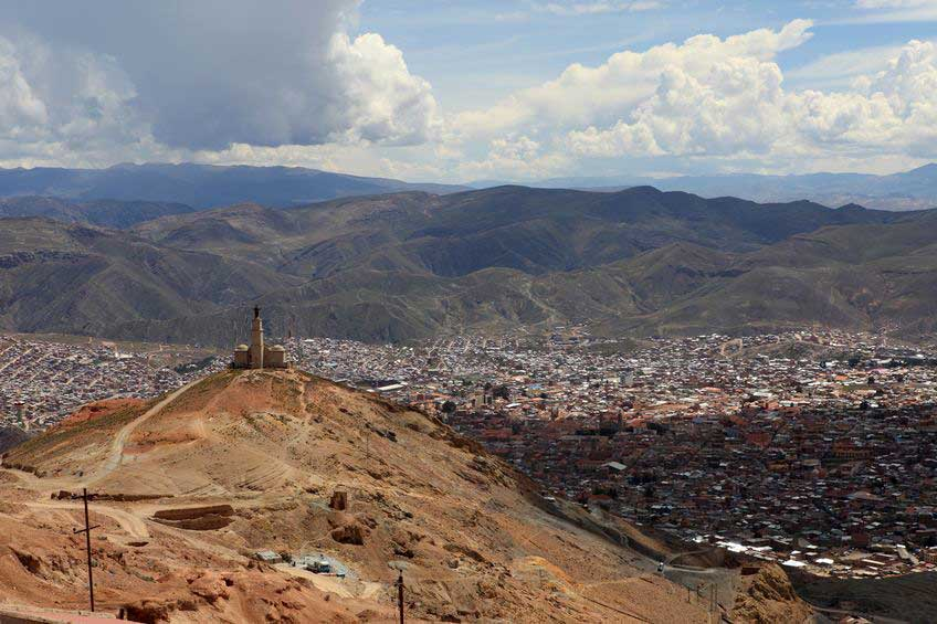 Silver mountain at Potosi Bolivia
