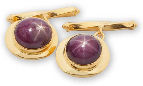 Regnas Star Ruby Cufflinks