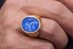 Lapis Lion ring