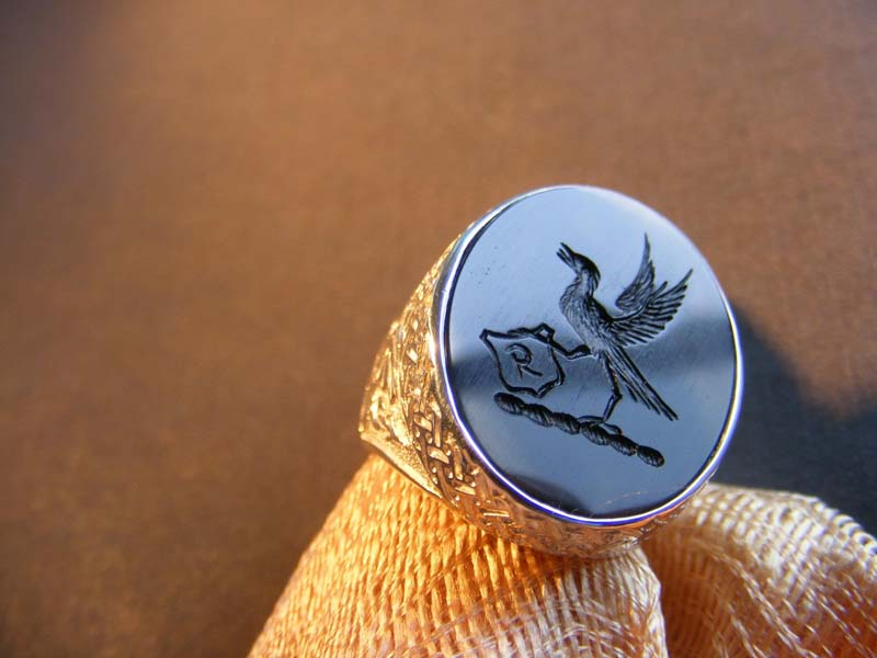 Rings engraved intaglio