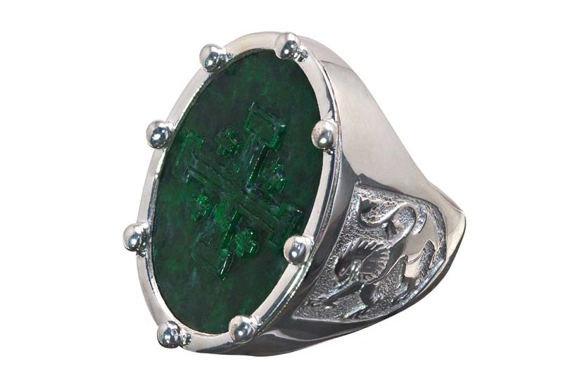 Jade Albite ring design