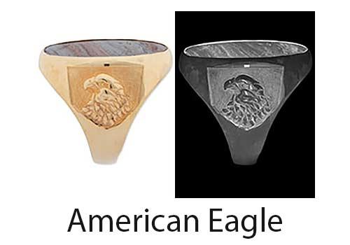 American Eagle Ring Shoulder design