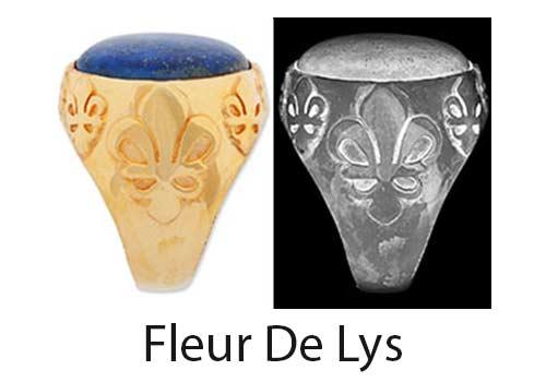 Fleur De Lys Ring Shoulder design