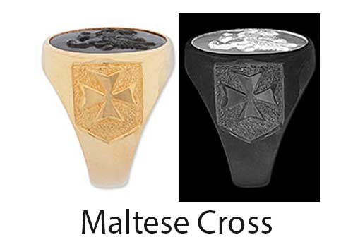Maltese Cross Ring Shoulder design