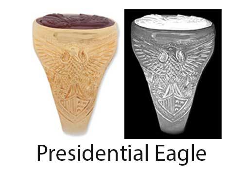 Presidentiial Eagle Ring Shoulder design