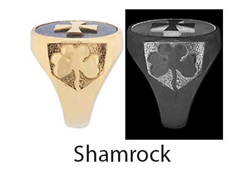 Shamrock Ring Shoulder design