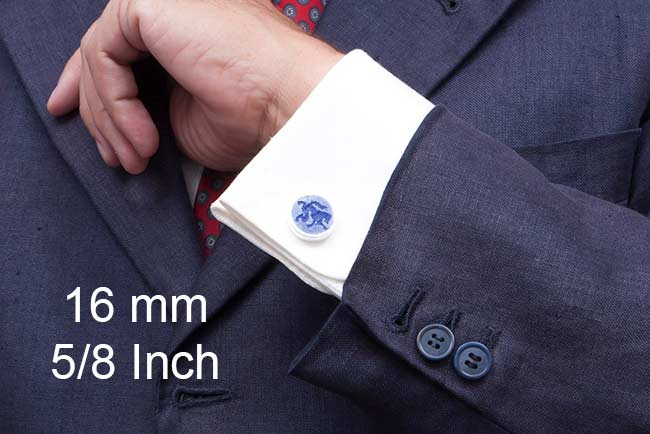 Cufflinks size 16mm