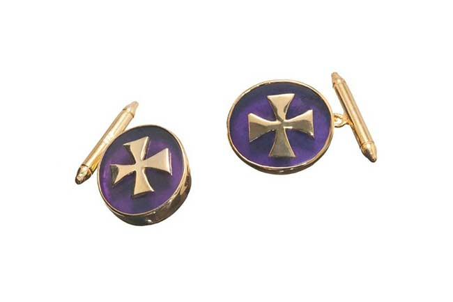 Custom Amethyst cufflinks