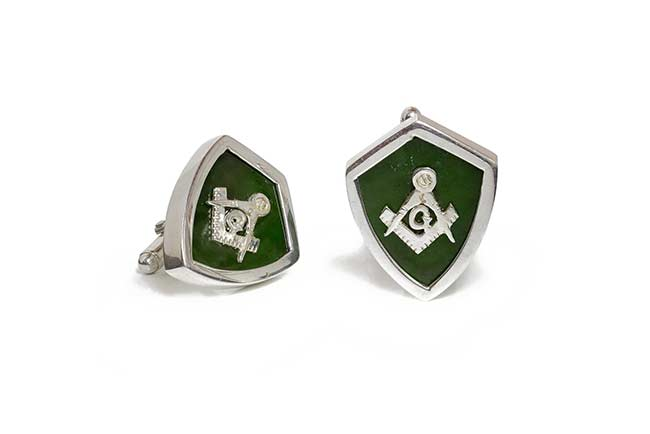 cufflinks with bezels