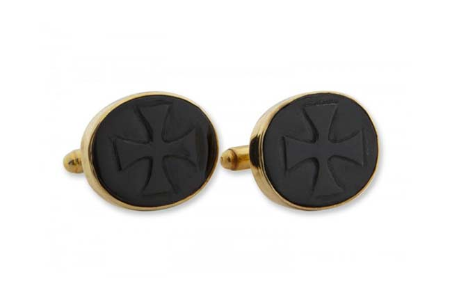 Black onyx custom cufflinks