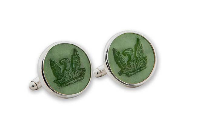Canda Jade custom cufflinks