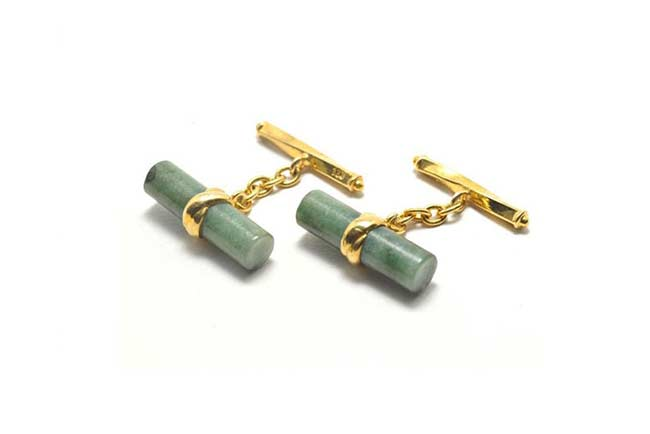 Cylinder chain cuff links