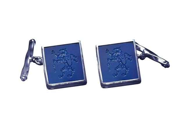 Lapis cufflinks