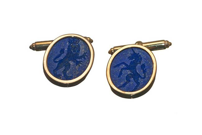 Lapis custom cufflinks