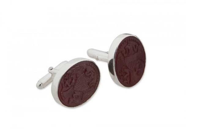 Regnas custom cufflinks designer - oval cufflinks