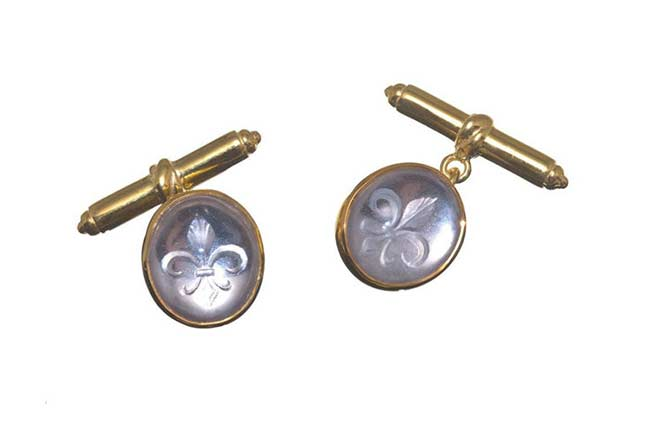 Rock Crystal custom cuff links