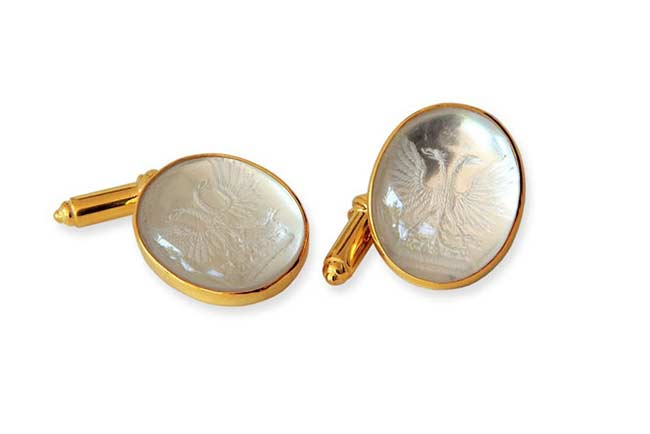 Rock Crystal custom cufflinks