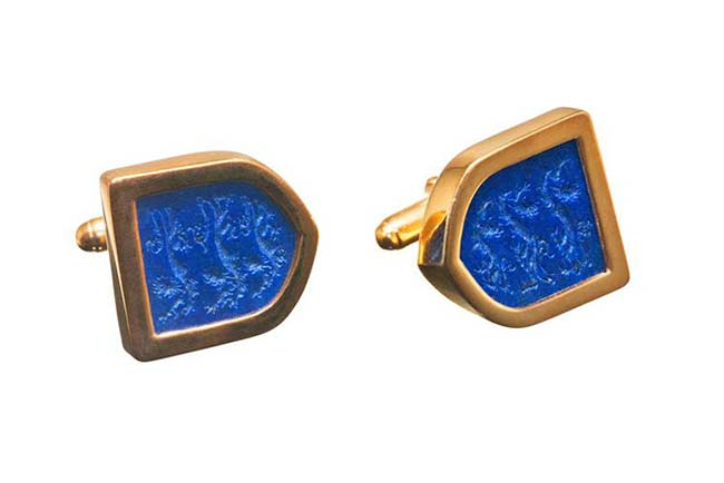 Shield shaped cufflinks